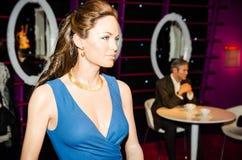 Madame tussauds,wax museum. Tourist attraction. Wax figure of Angelina Jolie royalty free stock photo