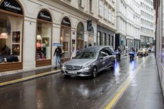 Vienna / Austria / Mai 29, 2019: Funeral celebration of Niki Lauda at Saint Stefan chatedral in Vienna royalty free stock photography