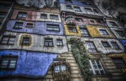 Hundertwasserhaus in Vienna stock photography