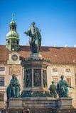 Vienna, Austria-- 7 marzo 2018: Monumento nel patio del palazzo imperiale di Hofburg immagini stock libere da diritti