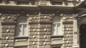 Building Muth - concert hall of the Vienna Boys` Choir. VIENNA, AUSTRIA - MAY 2018 building Muth - concert hall of the Vienna Boys` Chaure movement along the stock video