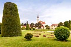 VIENNA, AUSTRIA - MAY 15, 2016: Catholic parish church maria hietzing near schonbrunn palace stock images