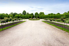 VIENNA, AUSTRIA - MAY 15, 2016: Green labyrinth at schonbrunn garden royalty free stock images