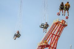 Amusement park in Vienna stock image