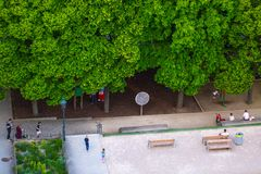 VIENNA, AUSTRIA - MAY 25: People are resting and relaxing in public Weghuberpark park in warm sunny day in Vienna, Austria, on May. 25, 2019, beautiful, city stock photos