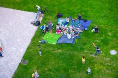 VIENNA, AUSTRIA - MAY 25: People are resting and relaxing in public Weghuberpark park in warm sunny day in Vienna, Austria, on May. 25, 2019, beautiful, city royalty free stock photography