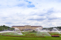 VIENNA, AUSTRIA - MAY 15, 2016: Photo view of schonbrunn Stock Photography