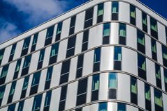 Vienna, Austria. 02.03.2019. Modern architecture of office buildings. A skyscraper from glass and metal. Reflections in windows. royalty free stock photos