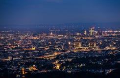 Vienna Austria at Night Stock Photos
