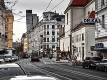 View of the streets of Vienna royalty free stock photos