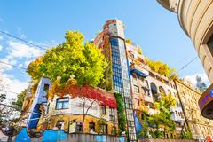 Hundertwasser House in Vienna, Austria Royalty Free Stock Images