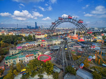 VIENNA, AUSTRIA - OCTOBER 07, 2016: The Giant Ferris Wheel. The Wiener Riesenrad. it was the world`s tallest extant Ferris wheel. The Giant Ferris Wheel. The Royalty Free Stock Photo