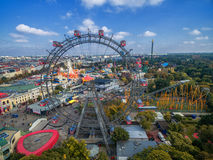 VIENNA, AUSTRIA - OCTOBER 07, 2016: The Giant Ferris Wheel. The Wiener Riesenrad.  it was the world`s tallest extant Ferris wheel. The Giant Ferris Wheel. The Stock Images