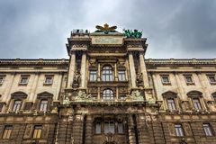 Neue burg close up, the new part of the Hofburg palace.