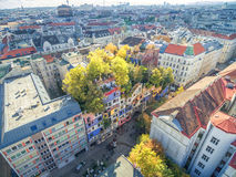 VIENNA, AUSTRIA - OCTOBER 09, 2016: Hundertwasserhaus. This expressionist landmark of Vienna is located in the Landstrase district Stock Photo