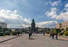 VIENNA, AUSTRIA - OCTOBER 07, 2016: Maria Theresien Platz It is named in honor of Empress Maria Theresa. Vienna, Austria Royalty Free Stock Images