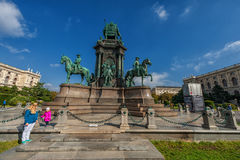 VIENNA, AUSTRIA - OCTOBER 07, 2016: Maria Theresien Platz It is named in honor of Empress Maria Theresa. Vienna, Austria Stock Images