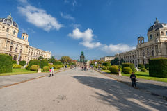 VIENNA, AUSTRIA - OCTOBER 07, 2016: Maria Theresien Platz It is named in honor of Empress Maria Theresa. Vienna, Austria. National Royalty Free Stock Image