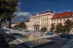 VIENNA, AUSTRIA - OCTOBER 07, 2016: MuseumsQuartier and Austrian architecture urban design museum Stock Images