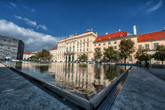 VIENNA, AUSTRIA - OCTOBER 07, 2016: MuseumsQuartier and contemporary art museum, Austrian architecture & urban design museum in Vi Royalty Free Stock Photos