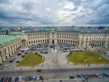 VIENNA, AUSTRIA - OCTOBER 07, 2016: Neue Burg, Heldenplatz, Weltmuseum Wien, Prinz Eugen von Savoyen, Ephesos Museum, Austrian Nat Stock Photography