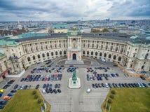 VIENNA, AUSTRIA - OCTOBER 07, 2016: Neue Burg, Heldenplatz, Weltmuseum Wien, Prinz Eugen von Savoyen, Ephesos Museum, Austrian Nat Royalty Free Stock Photo