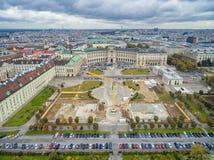 VIENNA, AUSTRIA - OCTOBER 07, 2016: Neue Burg, Heldenplatz, Weltmuseum Wien, Prinz Eugen von Savoyen, Ephesos Museum, Austrian Nat Royalty Free Stock Images