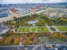 VIENNA, AUSTRIA - OCTOBER 07, 2016: Neue Burg, Heldenplatz, Weltmuseum Wien, Prinz Eugen von Savoyen, Ephesos Museum, Volksgarten, Stock Image