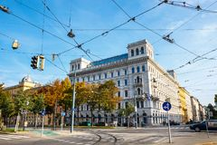 Rush Hour Traffic On Downtown Streets Of Vienna City Royalty Free Stock Photo
