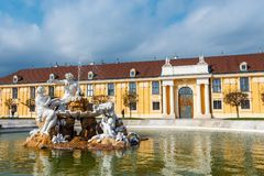 Schonbrunn Palace in Vienna. Baroque palace is former imperial summer residence located in Vien Stock Photo