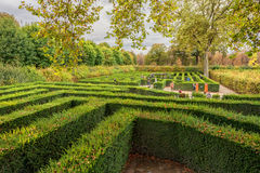 VIENNA, AUSTRIA - OCTOBER 08, 2016: Schonbrunn Palace and Garden in Vienna with Park. Sightseeing Object in Vienna, Austria. Labyr Royalty Free Stock Image