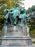 Statue of German writer and poet Johann Wolfgang von Goethe Royalty Free Stock Images