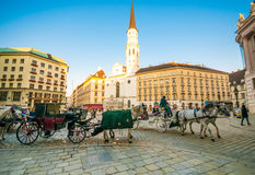 VIENNA, AUSTRIA - OCTOBER 19, 2015:  Traditional old-fashioned f Stock Photo