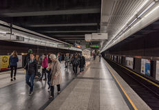 VIENNA, AUSTRIA - OCTOBER 07, 2016: Vienna Metro Station royalty free stock photo