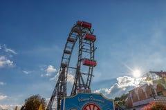 VIENNA, AUSTRIA - OCTOBER 07, 2016: Viennese Giant Ferris Wheel. Wiener Riesenrad Royalty Free Stock Image