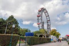 VIENNA, AUSTRIA - OCTOBER 07, 2016: Viennese Giant Ferris Wheel. Wiener Riesenrad Stock Photos