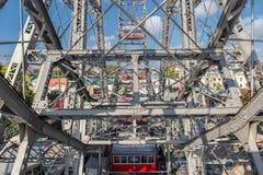VIENNA, AUSTRIA - OCTOBER 07, 2016: Viennese Giant Ferris Wheel. Wiener Riesenrad Stock Photography