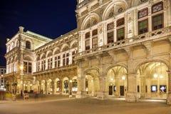 Vienna, Austria - Opera building at night Royalty Free Stock Image