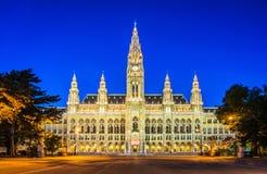 Vienna, Austria. Rathaus Mayor office in Vienna, Austria Royalty Free Stock Photo
