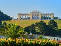 VIENNA, AUSTRIA - SEPTEMBER 8, 2017. Famous Schonbrunn Palace in Vienna, Austria. Famous Schonbrunn Palace in Vienna, Austria Stock Images