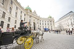 Horse-drawn carriage in Vienna Royalty Free Stock Images