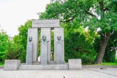 Memorial to the memory of the establishment of the republic. VIENNA AUSTRIA _ SEPTEMBER 2 2017; memorial in the memory of the establishment of Austrian republic stock photography