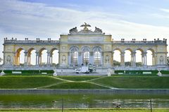 Vienna, Austria - September 25, 2013: Schonbrunn Palace and gardens. The former imperial summer residence. The palace is one of th Royalty Free Stock Photo