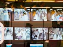 VIENNA, AUSTRIA - SEPTEMBER 8, 2017. Security video surveillance in Vienna subway Royalty Free Stock Images