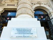 Vienna. austria. supreme court Stock Images