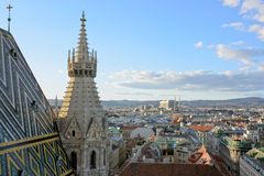 Vienna, Austria. View of Vienna from the St.Stephan Cathedral Stock Images