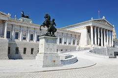 Vienna, Austrian Parliament stock photography