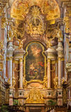 Vienna - Baroque altar of monastery church in Klosterneuburg build by Sebastian Stumpfegger and designed by Matthias Steinl from y Royalty Free Stock Image