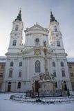 Vienna - Baroque church Maria Treu Stock Photos
