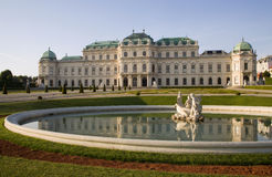 Vienna - Belvedere palace. In morning Stock Images